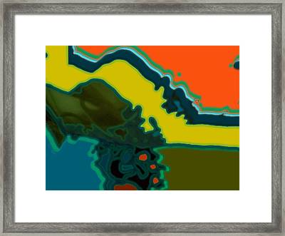 Horizontal Shape Ba Framed Print by Therese AbouNader