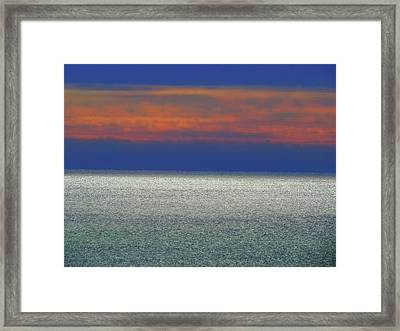 Horizontal Sunset Framed Print