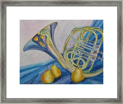 Horn Danjou Framed Print by Jenny Armitage