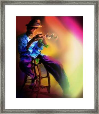 Horn Player 1 Framed Print