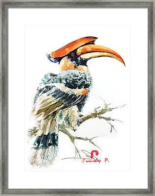 Hornbill Bird 2 Framed Print by Pornthep Piriyasoranant