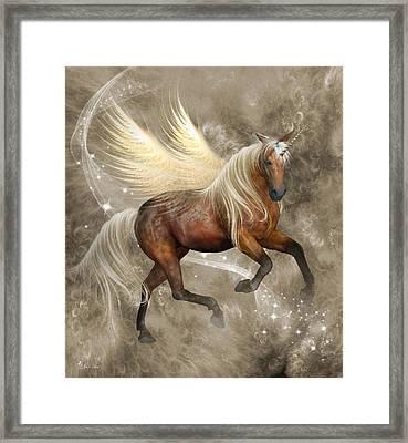 Horned Pegasus Framed Print by Ali Oppy
