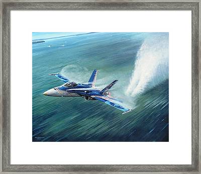 'hornet 20th Anniversary Over Myall Lake Nsw' Framed Print