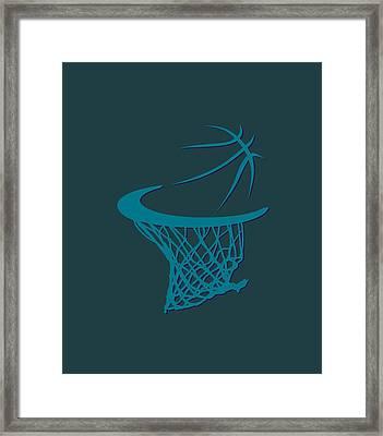 Hornets Basketball Hoop Framed Print