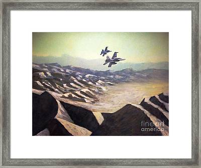Hornets Over Afghanistan Framed Print by Stephen Roberson