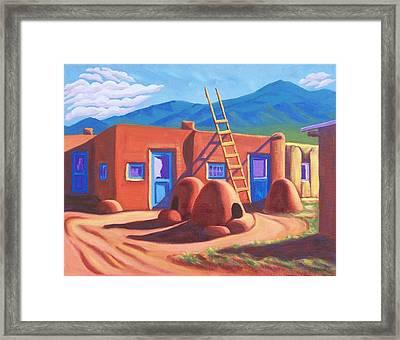 Horno De Pan Taos Framed Print
