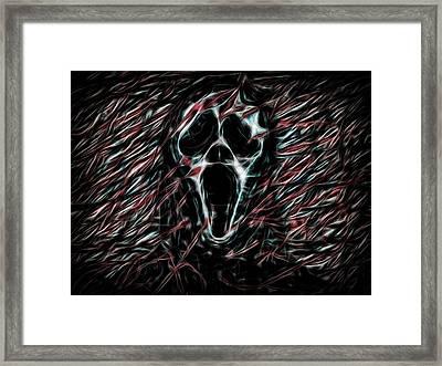 Horror Face Framed Print
