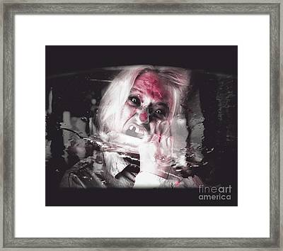 Horror Fast Food. Drive Thru Zombie Apocalypse Framed Print by Jorgo Photography - Wall Art Gallery