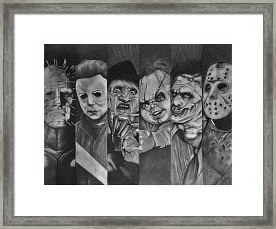 Horror Greats Framed Print