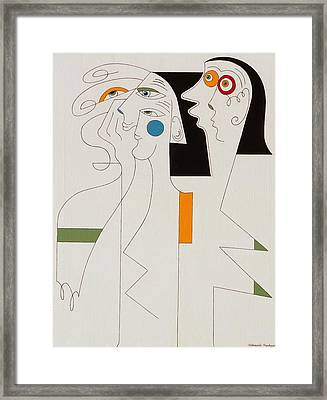 Horror Framed Print by Hildegarde Handsaeme