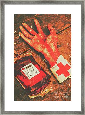 Horror Hospital Scenes Framed Print by Jorgo Photography - Wall Art Gallery