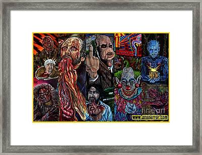 Horror Framed Print by Jose Mendez
