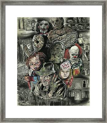 Horror Movie Murderers Framed Print