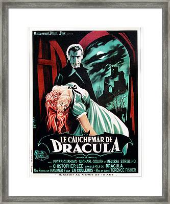 Horror Of Dracula Aka Le Cauchemar De Framed Print by Everett