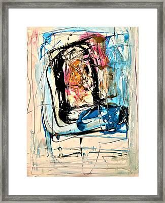 Horror On Blue Tv Framed Print by Dr Ernest Williamson III