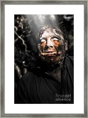Horror Zombie With Finger Food. Bad Taste Framed Print by Jorgo Photography - Wall Art Gallery