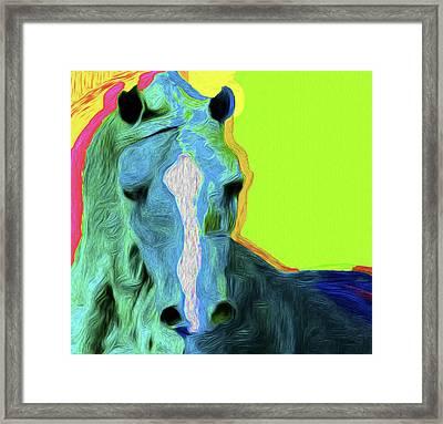 Horse 4747 Nicholas Nixo Efthimiou Framed Print