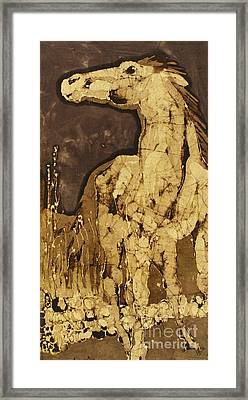Horse Above Stones Framed Print