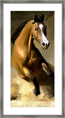 Framed Print featuring the painting Horse Agility by James Shepherd