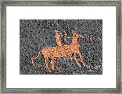 Horse And Arrow Framed Print by David Lee Thompson