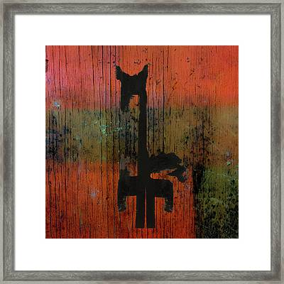 Horse And Barn Abstract  Framed Print