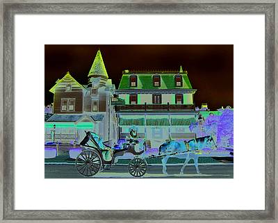 Horse And Buggy Framed Print by Paul Barlo