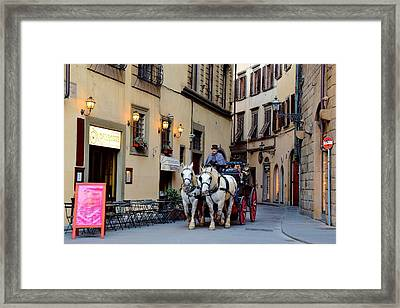 Horse And Buggy Ride Framed Print by Frozen in Time Fine Art Photography