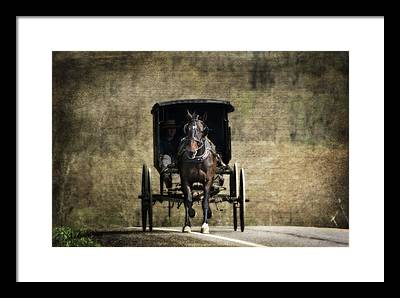 Horse And Buggy Framed Prints