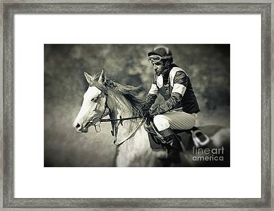 Horse And Jockey Framed Print