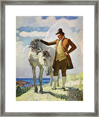 Horse And Owner Framed Print by Newell Convers Wyeth