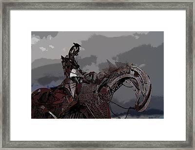 Horse And Rider Framed Print by Bill Kellett
