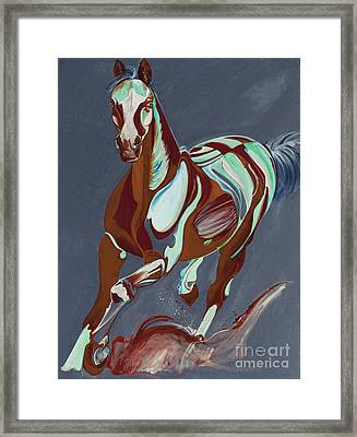Horse Art 56t Framed Print by Yaani Art