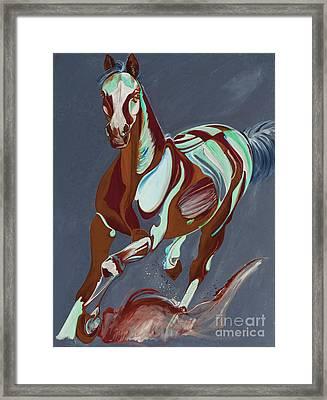 Horse Art 56t Framed Print by Yaani Art