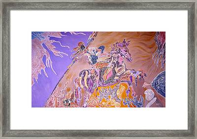 Framed Print featuring the painting Horse Back Rider by Sima Amid Wewetzer