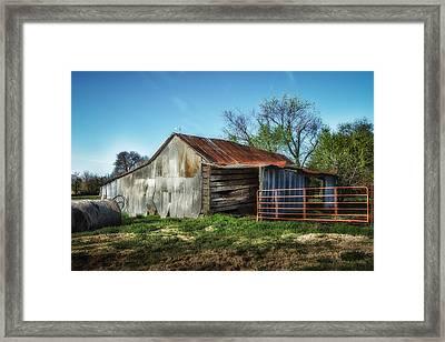 Horse Barn In Color Framed Print