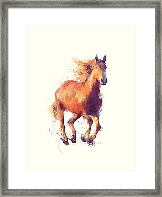Horse // Boundless Framed Print by Amy Hamilton