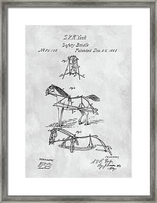 Horse Bridle Patent Framed Print by Dan Sproul