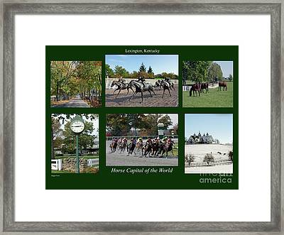 Horse Capital Of The World Framed Print