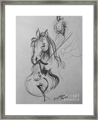Horse Cello Sax Framed Print by Jamey Balester