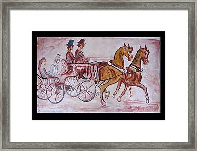 Horse Chariot Framed Print