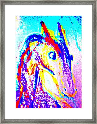Horse Climbing The Wall Of Life  Framed Print