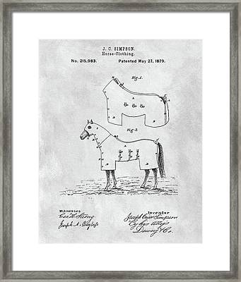Horse Coat Patent Framed Print by Dan Sproul