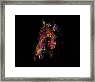 Horse Color Splash Abstract  Framed Print