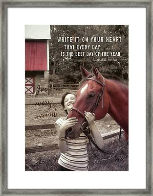 Horse Crazy Quote Framed Print by JAMART Photography