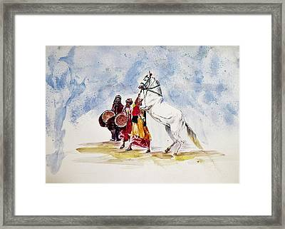 Horse Dance Framed Print
