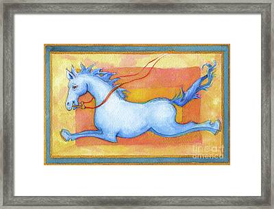 Horse Detail From H Medieval Alphabet Print Framed Print