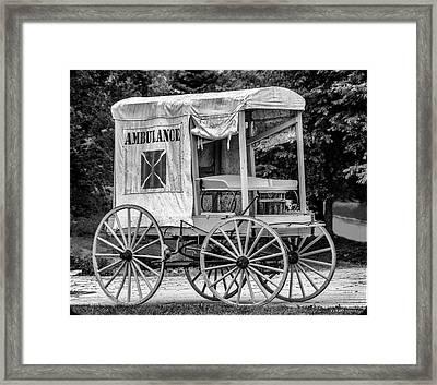 Horse Drawn Ambulance  Framed Print by Ken Morris