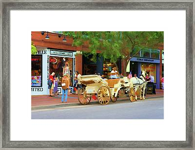 Horse-drawn Carriage In Nashville, Tennessee Framed Print by Art Spectrum