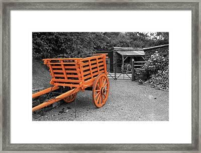 Wooden Horse Drawn Cart Framed Print by Aidan Moran
