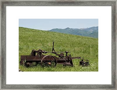 Horse Drawn Ditch Digger Framed Print by Daniel Hebard